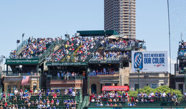 Wrigley Field Rooftop Seating Royalty Free Stock Images