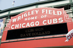 Wrigley Field Sign Royalty Free Stock Photos