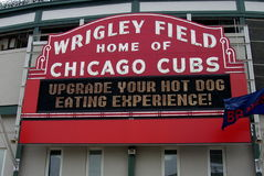 Wrigley Field Sign - Chicago Cubs Royalty Free Stock Photo