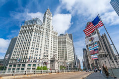 Wrigley-Gebäude in Chicago Stockfotos