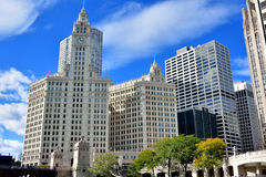Wrigley-Glockenturm, Chicago Lizenzfreie Stockbilder