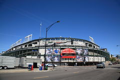Wrigley mettent en place - Chicago Cubs photo stock