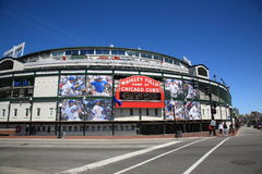 Wrigley mettent en place - Chicago Cubs image stock