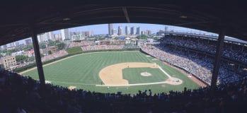 Wrigley mettent en place, Chicago, Cubs v Les Rocheuses, l'Illinois Photos libres de droits