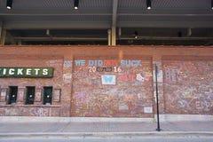 Wrigley pola mistrzostw świata ściana uznania zdjęcia stock