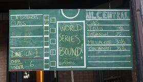 Wrigley pola sąsiad Chalkboard Stats, Fotografia Royalty Free