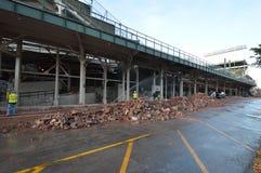 Wrigley Renovation II-Waveland Stock Image