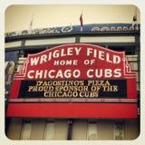 Wrigley sätter in Chicago Cubs Fotografering för Bildbyråer