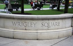 Wrigley Square Chicago, Illinois stock photo