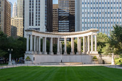 Wrigley Square in Millenium Park Stock Photo