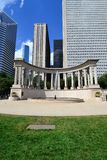Wrigley Square and Millennium Monument Royalty Free Stock Photos