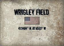 Wrigley stellen auf lizenzfreies stockbild