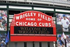 Wrigley stellen - Chicago Cubs auf Stockfotografie