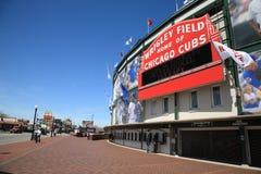Wrigley stellen - Chicago Cubs auf Stockfotos