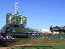 Wrigley stellen - Chicago Cubs auf Stockfotos