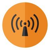 Wriless et icône de réseau Photographie stock libre de droits