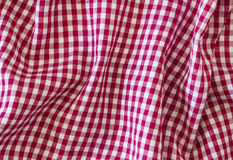 Wrinkle Fabric Plaid Royalty Free Stock Photography