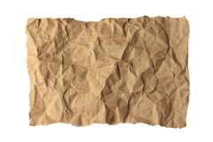 Wrinkle Recycle Paper Royalty Free Stock Image