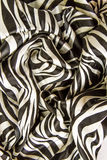 Wrinkle zebra print fabric Royalty Free Stock Photography