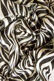 Wrinkle zebra print fabric. Close up background royalty free stock photography
