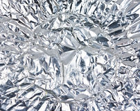Wrinkled Aluminum Foil. Texture can use for background Royalty Free Stock Images