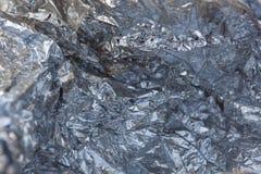 Wrinkled aluminum foil Stock Image