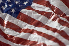 Wrinkled american flag Stock Photo