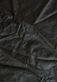 Wrinkled black fabric Royalty Free Stock Images