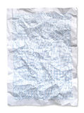 Wrinkled Blue graph paper Stock Image