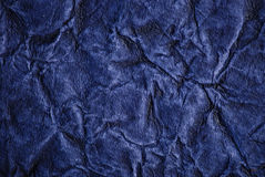 Wrinkled blue paper Royalty Free Stock Image