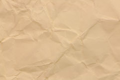 Wrinkled brown paper Stock Photos