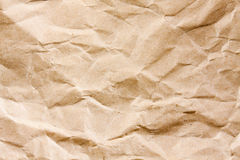 Wrinkled brown paper. A plain wrinkled brown paper stock photography