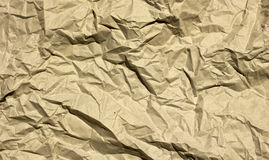 Wrinkled Brown Paper Stock Photo