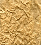 Wrinkled brown paper bag Stock Images