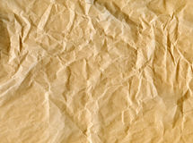 Wrinkled brown paper bag. Background Stock Images