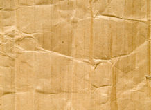 Wrinkled cardboard background Stock Photo