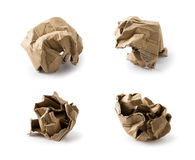 Wrinkled cardboard box collection Stock Images