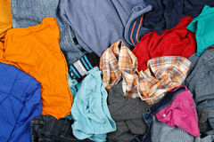 Wrinkled clothes Stock Image