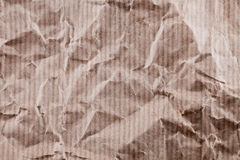 Wrinkled craft paper Royalty Free Stock Photography