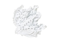 Wrinkled crumpled paper Stock Image