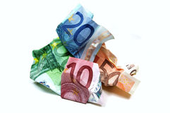 Wrinkled Currency Royalty Free Stock Image