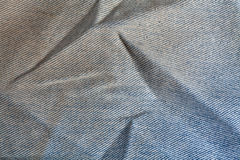 Wrinkled Denim Background Royalty Free Stock Photo