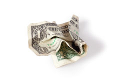Wrinkled dollar Stock Photos