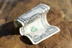 Wrinkled Dollar Bill Stock Photo