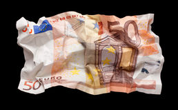 Wrinkled euro money Royalty Free Stock Photo
