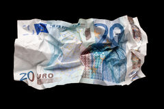 Wrinkled euro money Royalty Free Stock Image
