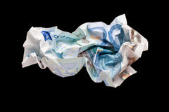 Wrinkled euro money Royalty Free Stock Photography
