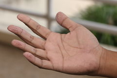 Wrinkled finger Royalty Free Stock Image