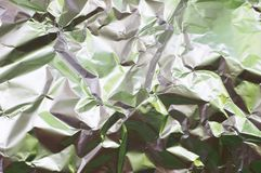 Wrinkled foil Stock Photography