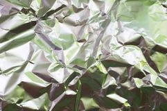 Wrinkled foil. Wrinkled aluminium foil Stock Photography